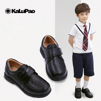 Children Leather Shoes Boys School Shoe 2019 New Genuine Leather Non-Slip Loafers Kids Flats Baby Toddler Casual Comfy Footwear