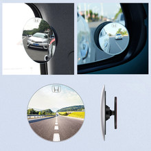 Car 360 Degree Framless Blind Spot Mirror Wide Angle Round Convex Mirror Small Round Side Blindspot Rearview for HONDA CIVIC