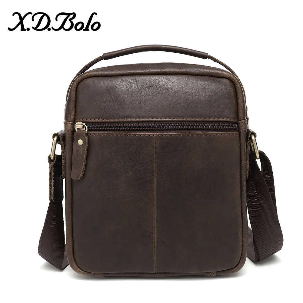 BOLO 2019 moda erkek çanta hakiki deri omuzdan askili çanta erkekler için çok fonksiyonlu postacı çantası Split deri çanta adam için seyahat