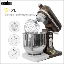 XEOLEO Electric Stand mixer Planetary food mixer Household Chef machine 7L Egg beater 8-speed No noise food mixer 500W/380W