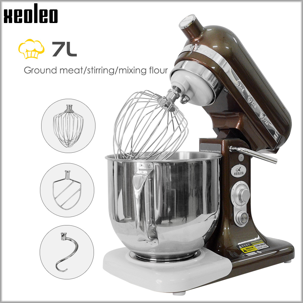 XEOLEO Elettrico Stand mixer Planetario cibo mixer da cucina Chef macchina 7L frullino per le uova 8-velocità di Macchina In Acciaio Inox 500 w/380 W