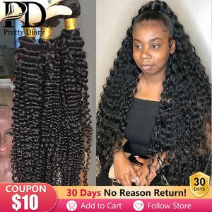 1/3/4 Bundles 28 30 32 34 40 Inch Deep Wave Brazilian Hair Weave Bundles Curly Hair Bundles 100% Human Hair Water Wave Remy Hair(China)
