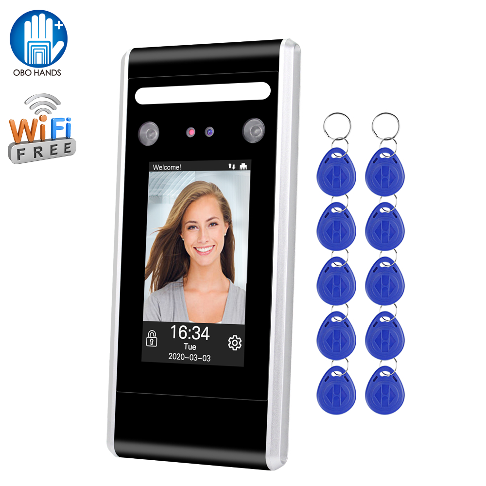 125KHz/13.56MHz RFID Face Access Control System Software Biometric Wifi TCP/IP/USB Dynamic Facial Time Attendance Keypad Reader