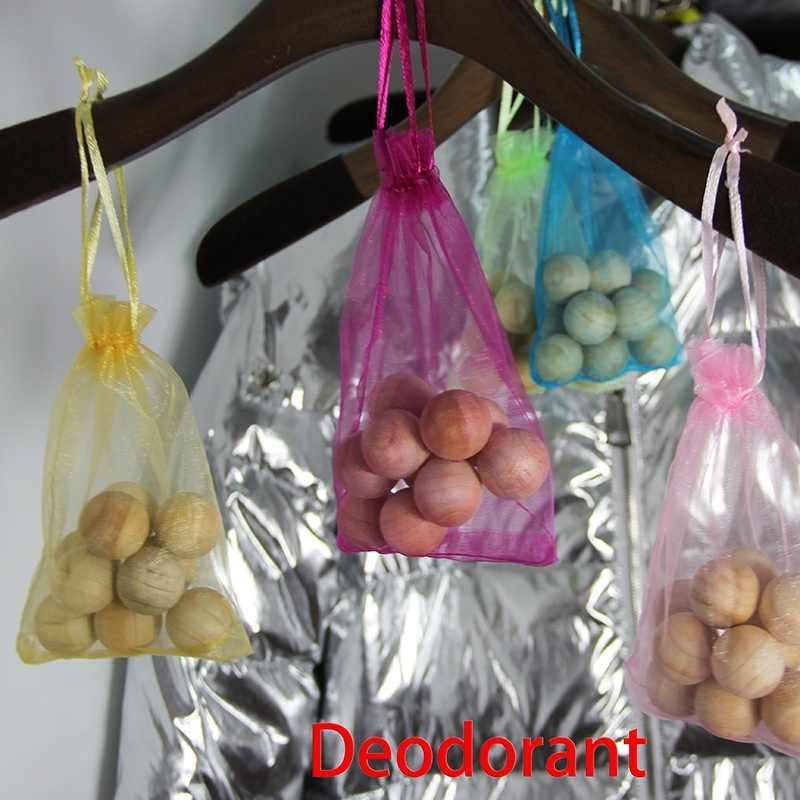 10 ピース/バッグ木製防虫剤香り天然木ボール害虫昆虫制御ワードローブ蛾忌避カビを防止防湿