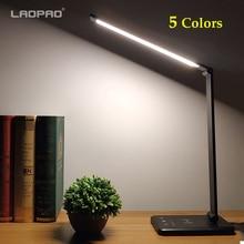 LAOPAO 52PCS LED 책상 램프 5 색 무단 Dimmable 터치 USB 충전식 독서 눈 보호 타이머 테이블 램프 야간 조명