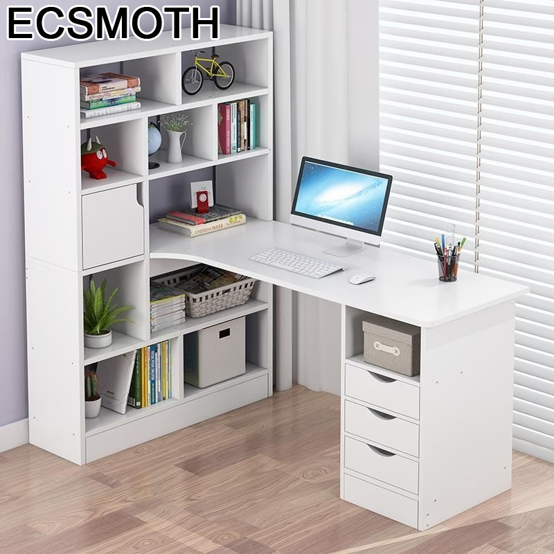 Mueble Office Scrivania Ufficio Schreibtisch Para Notebook Pliante Laptop Computer Mesa Bedside Desk Table With Bookshelf