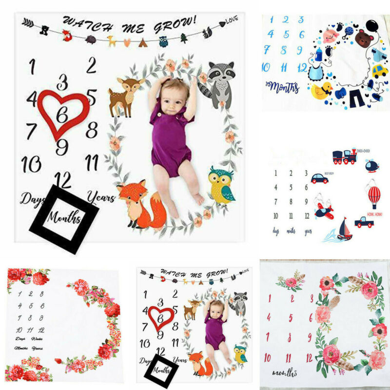 Baby Photography Blacket Newborn Babies Girls Boy Blankets Milestone Photo Props Baby Souvenirs Accessories image