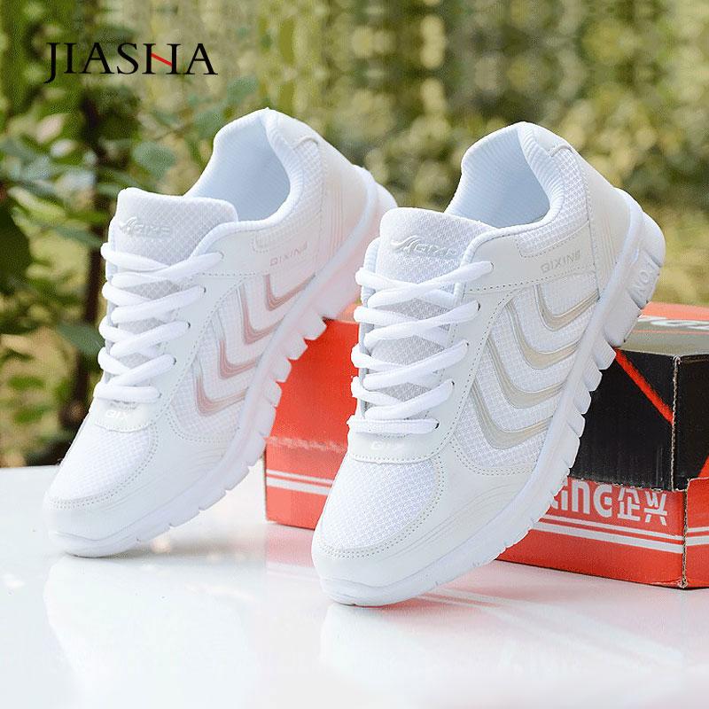 2020 nova moda tenis feminino luz respirável malha branca sapatos mulher sapatos casuais tênis mulher entrega rápida