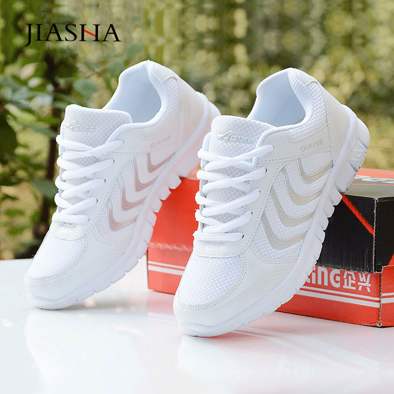 Women Shoes 2020 New Fashion Tenis Feminino Light Breathable Mesh White Shoes Woman Casual Shoes Women Sneakers Fast Delivery