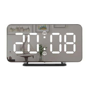 Digital Mirror Alarm Clock LED Wall Table Electronic Temperature Clocks Multifunction Watch Home Decoration Clock 1