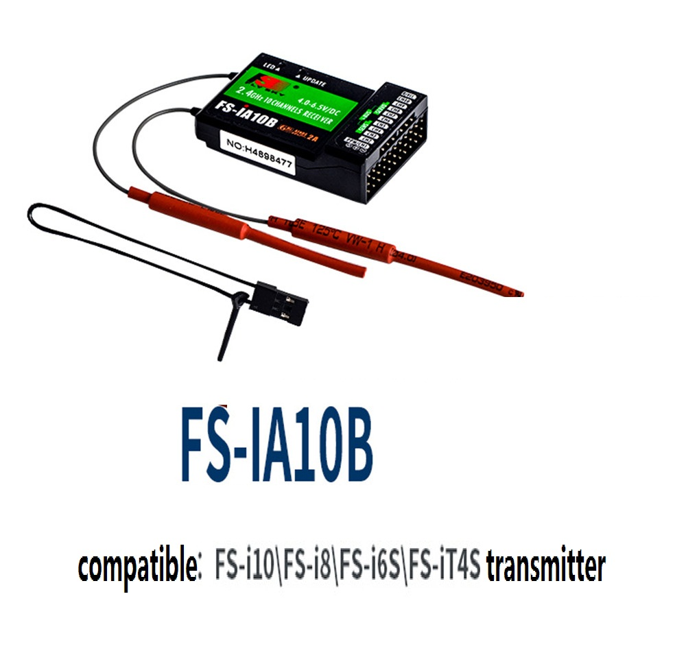 FS Flysky FS-IA10B IA10B 2.4G 10 Channel Receiver PPM Output With IBus Port Compatible With I6 I6S I10 For Quadcopter Boat