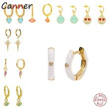 Boako 925 prata esterlina colorido pequenos brincos de argola para jóias femininas brincos de cartilagem incomum plata de ley 925 pendientes