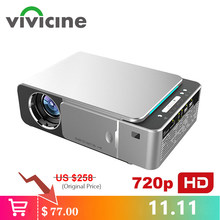 VIVICINE Nieuwste V200 1280X720P LED HD Projector, Optioneel Android 7.1 Bluetooth, ondersteuning 4K Wifi HDMI USB LCD Home Theater Beamer(China)