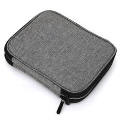 Looen vazio crochê gancho saco de armazenamento bolsa de tricô para costura croceht agulhas kit caso diy tecer ferramentas crochê saco