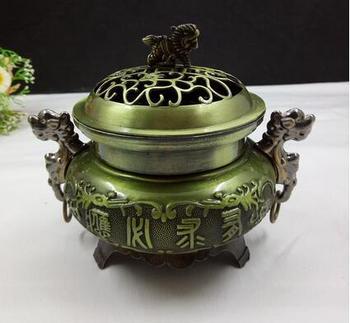 Buddhism sculpture ornament copper incense burne