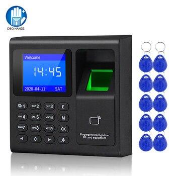 Система биометрической идентификации по отпечатку пальца, Электронная USB-система с клавиатурой и таймером, устройство записи посещаемости ...