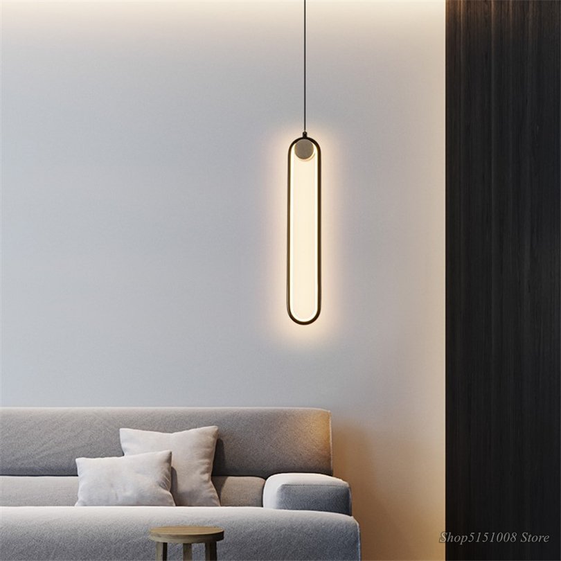 Простые современные подвесные светильники, светодиодные прикроватные лампы для гостиной, настенные подвесные светильники, домашний декор,... - 2