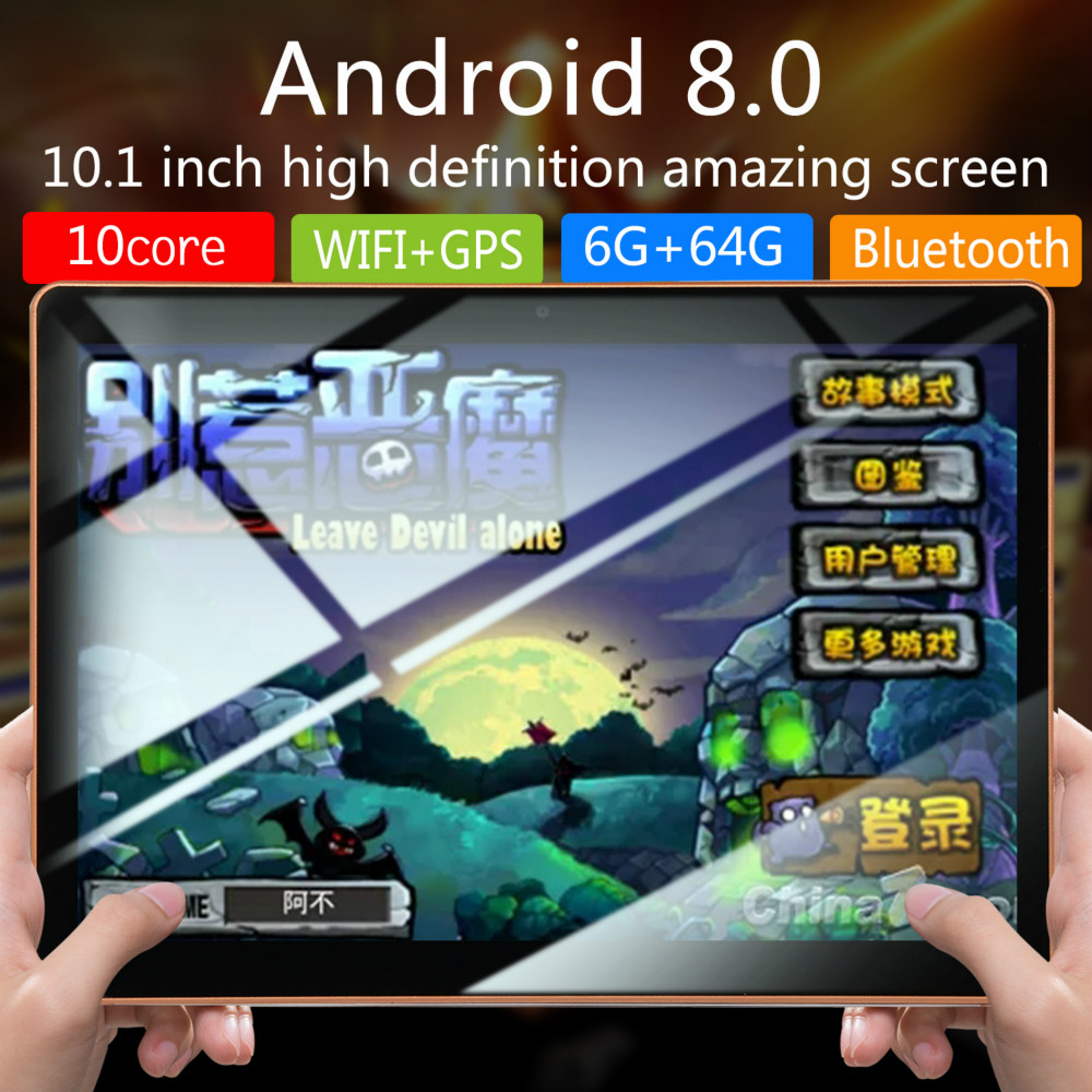 2020 New 10 Inch Android8.0 Tablet Pc 10 Core Original Powerful 6GB RAM 128GB ROM IPS Dual SIM Phone Call Tab Phone Pc Tablets