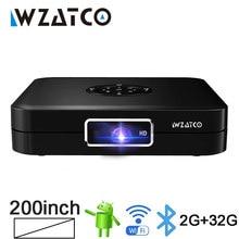 WZATCO – MINI projecteur 3D DLP, Android, 5G, WiFi, faisceau LED, 300 pouces, compatible Full HD 1080P, 4K, AC3