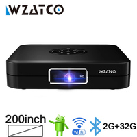 WZATCO D1 DLP MINI 3D Projector 32G Android 5G WiFi 300Inch Beam LED Smart Pocket Cinema Projector Support Full HD 1080P 4K AC3