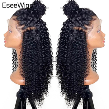Lace Front Wig Human Hair Wigs with Baby Hair Pre-Plucked Brazilian Remy Kinky Curly 13X4 for Black Woman 150% Density EseeWigs