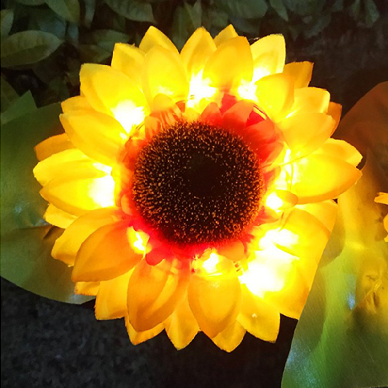 Solar Powered Flower Light Lawn Lamp Sunflower Lamp Home Garden Yard Lawn Path Party Decorative And Night Lighting Sunflower Lig