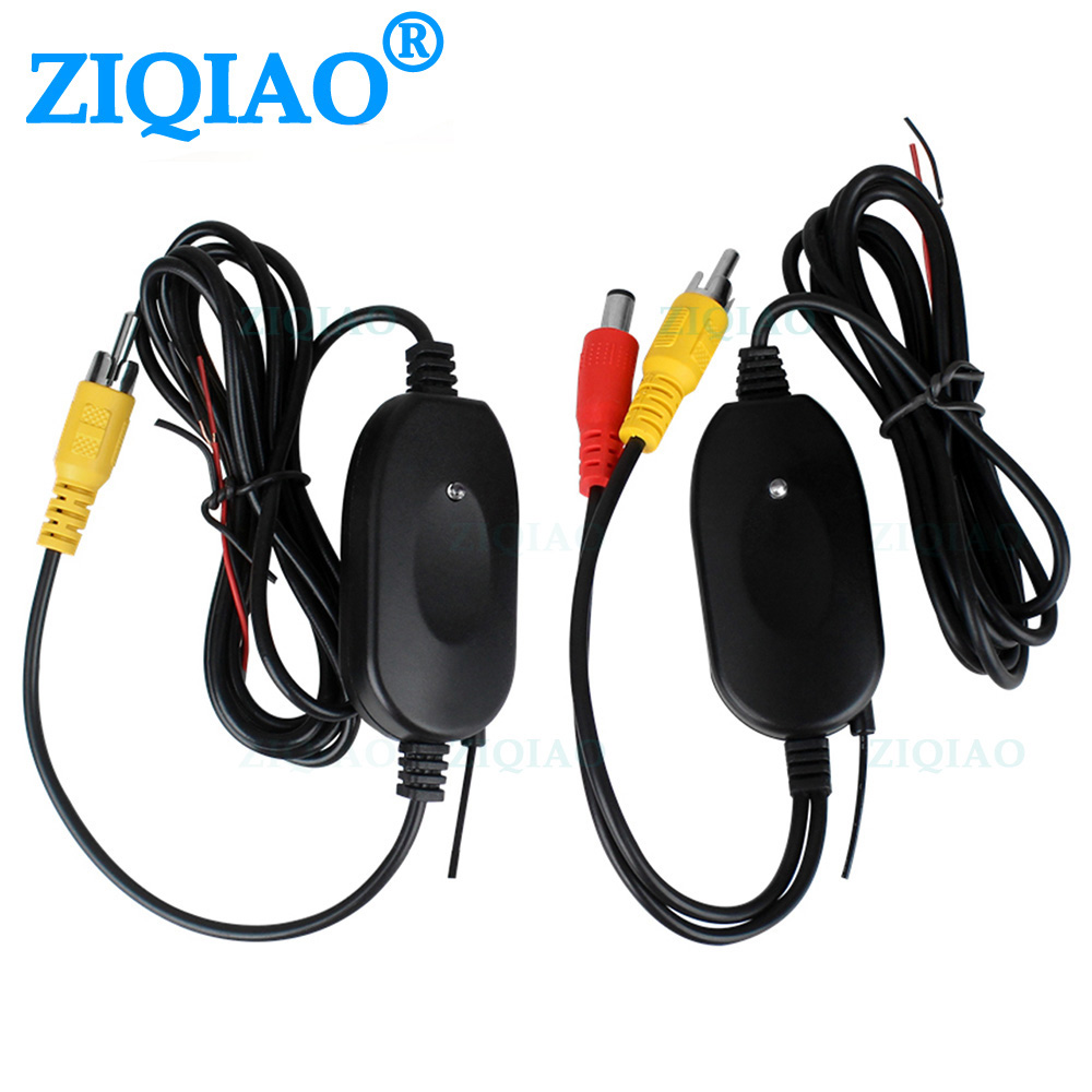 ZIQIAO Wireless Rear View Camera RCA Video Transmitter & Receiver Kit For Car Rearview Monitor FM Transmitter Receiver HS038