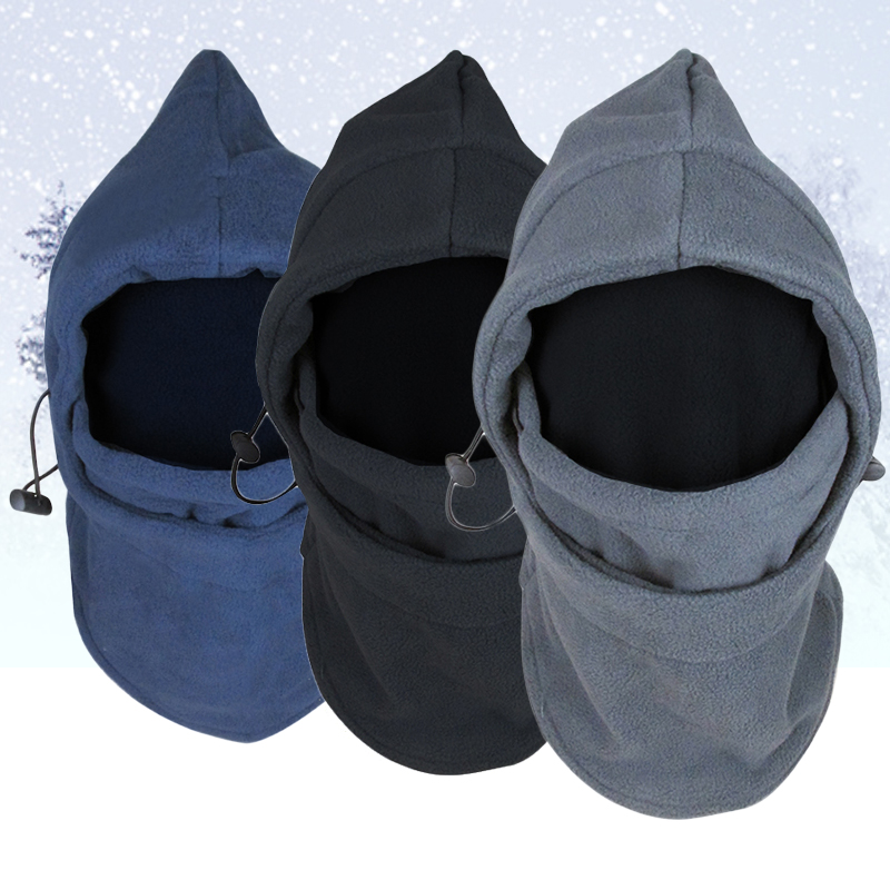Winter Warm  New Arrival Face Mask Thermal Fleece Balaclava Hood Swat Bike Wind-proof And Sand-proof Stopper Hats Caps