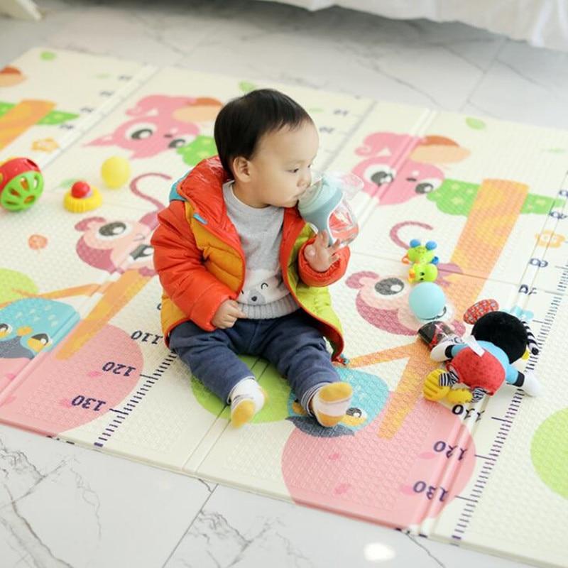 Tapis de jeu pliable pour bébé XPE pour enfants tapis rampant Puzzle jouets tapis de jeu tapis de développement pour enfants tapis mousse sol souple bébé Gym - 4