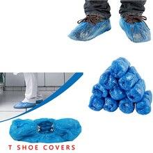 Синие одноразовые удобные и удобные модели дома, высокое качество, крышка для обуви PE, крышка для обуви