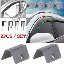 2 pçs vento chuva defletor canal clipes de retenção aço inoxidável para heko g3 sned clipes acessórios do carro