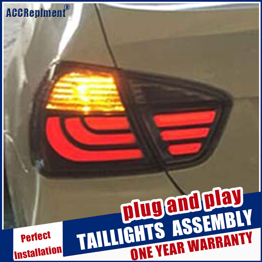 For BMW 3 Series E90 318i 320 325 Taillights 2005-2008 Rear Light DRL+Turn Signal+Brake+Reverse light image