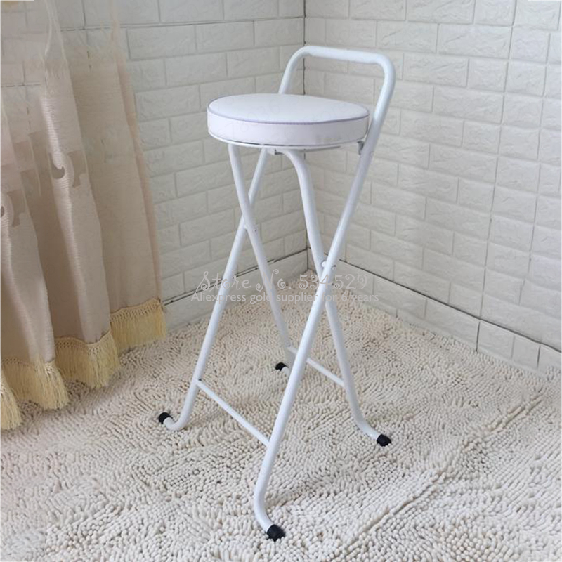 21%New European High Stool Bar Stool Bar Stool Folding Fishing Stool Thickening High Chair