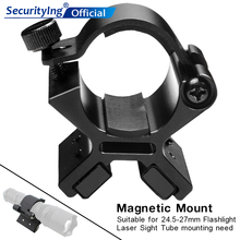 SecurityIng Flashlight Magnetic Mounting Bracket with Dual Magnets for 24-27mm Flashlight Dim Range Assembly Tactical Flashlight