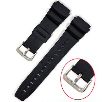 Para relojes casio, correa de reloj de silicona, bandas de goma para reemplazar, correa de reloj de pulsera electrónica, correas de relojes deportivos 18mm 20mm 22mm
