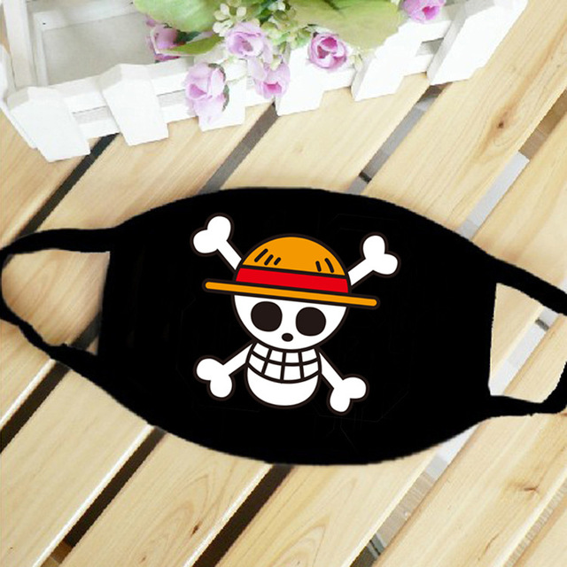 One Piece Skull Luffy Law Straw Hat Anime Mouth Face Mask Dustproof Breathable Women Men Cotton Riding Mask Fashion Accessories 2
