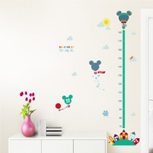 2 style Disney cartoon minnie mickey mouse growth chart wall stickers for kids height measure art  home decorations DIY