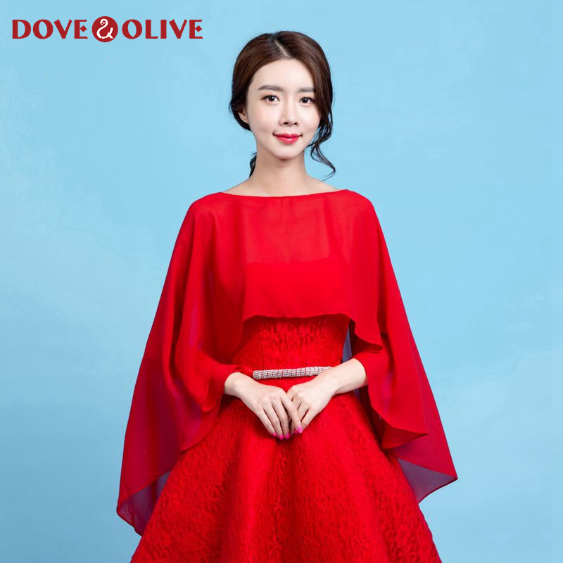 2020 New Special Formal Women Wraps Red Full Elegant Sheer Summer Tull Evening Party Dress Bridal Wedding Ladies Shawl Hot Sell
