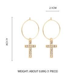 Дикие и свободные серьги-кольца в форме звезды для женщин, золотые медали, крест, маленькие глаза, крошечные обручи Huggie, серьги, стразы, минималистичное ювелирное изделие - Окраска металла: Style 7