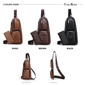 Image 5 - Celinv Koilm znane marki mężczyźni Casual Daypacks wysokiej jakości gorąca saszetka/nerka człowieka temblak skórzany torby na zewnątrz podróży