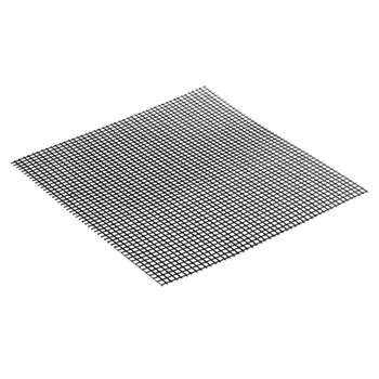 2 Size Grid Shape BBQ Mat for Outdoor Activities-Heat Resistance and Non-stick Easy Cleaning Reusable Barbecue Grilling Pad image