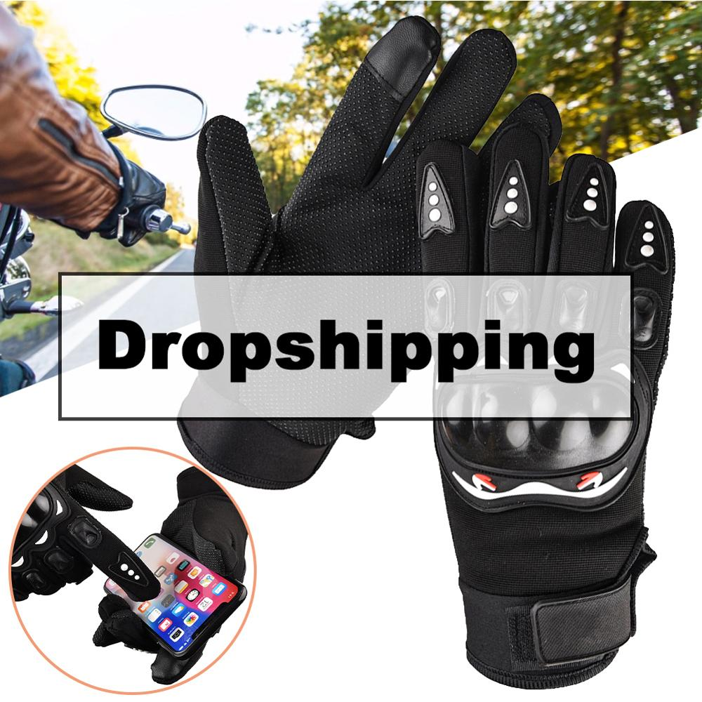 Gants de Moto hiver garder au chaud gants de Moto hommes gants de Moto imperméables écran tactile course Moto gants déquitation