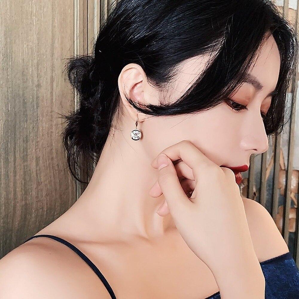 New Crystal Bow Drop Earrings Korean Women Zircon Earrings Luxury Jewelry Accessories Weddings Party Girl Gift 2020 Gold Color