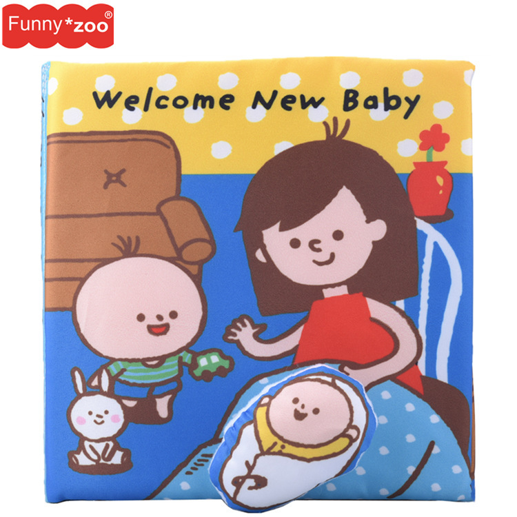 Cute Infant Baby Animal Cloth Book Bed Cognize Intelligence Development Toys CL