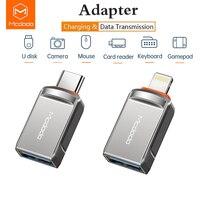 MCDODO-Adaptador USB 3,0 a Lighting, convertidor de sincronización de datos OTG para iphone 12 11 Pro Max XS Samsung Tablet tarjeta SD U Disk