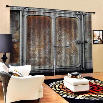 personality curtains  Luxury Blackout 3D Window Curtains For Living Room Bedroom Customized size door curtains