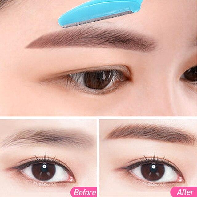 36Pcs EyeBrow Epilator Brow Knife Eyebrow Razor Facial Remover Shaver Makeup Facial Hair Removal Blades Eyebrow Trimmer 3