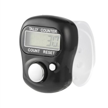 Clicker 4 Digit Number Counters Plastic Shell Hand Finger Display Manual Counting Tally Clicker Timer Soccer Golf Counter dropsh image