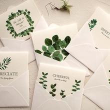 XINAHER 1 шт./5 шт. летние листья растений поздравительные открытки спасибо открытка с конвертом для праздничного сезона День матери открытки