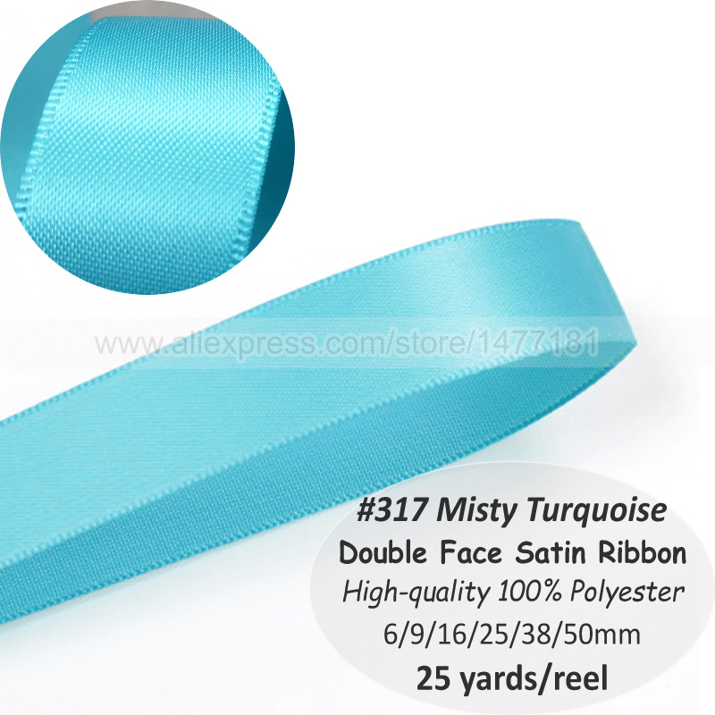 Double Sided Satin Ribbon 10mm 25m Reel //By The Metre in Ivory FREE DELIVERY